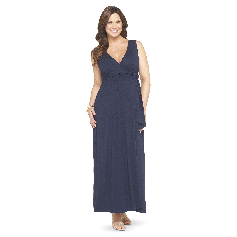 4ca6dae63a4 Maternity Sleeveless Maxi Dress-Liz Lange® f...   Target