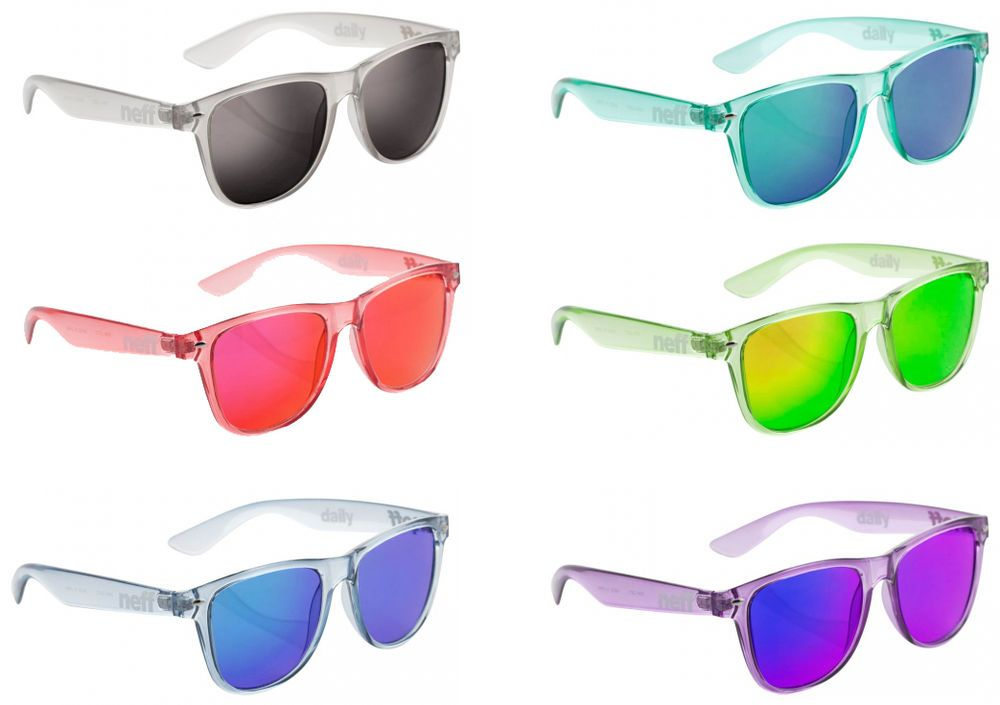 a09c125b030 Neff Daily Ice Sunglasses Colored Clear Plastic Frame with Acrylic Lens   NEFF  Round