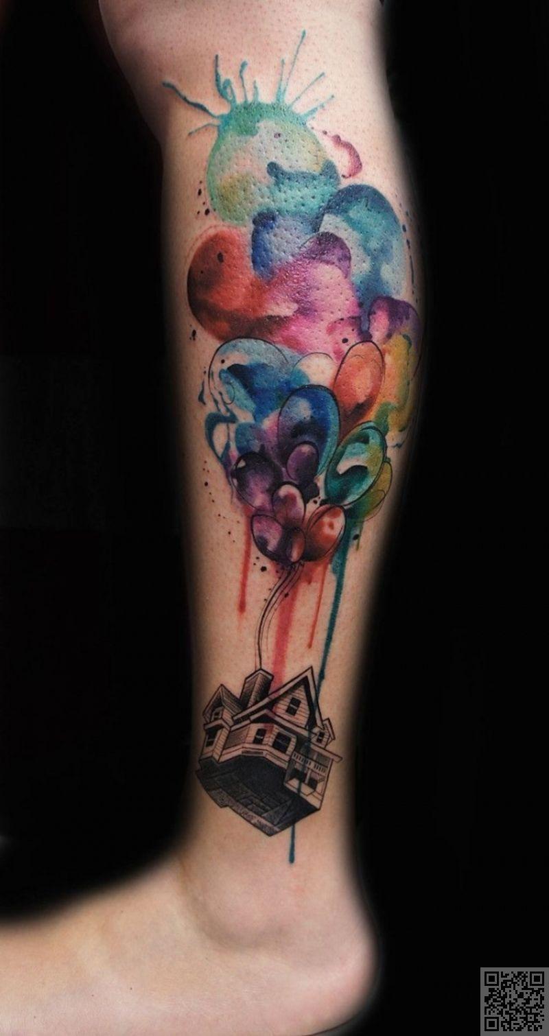 41 oben 45 unglaubliche aquarell tattoos beauty. Black Bedroom Furniture Sets. Home Design Ideas
