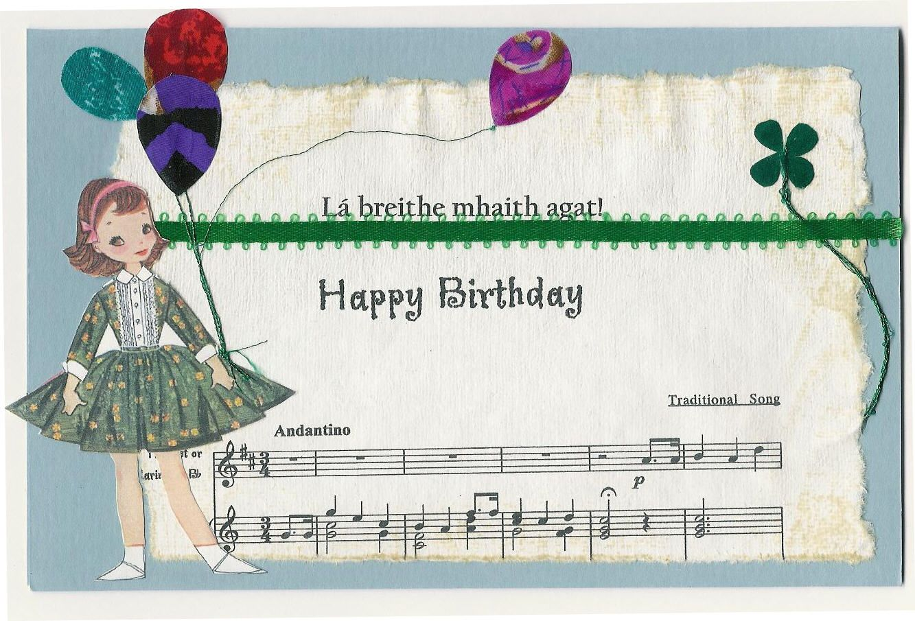 Irish Birthday Card Vintage Greeting Cards Irish Birthday Birthday Cards