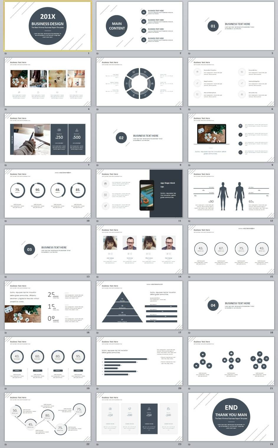 24 Best White Business Design Powerpoint Template Powerpoint Presentation Design Business Design Presentation Design