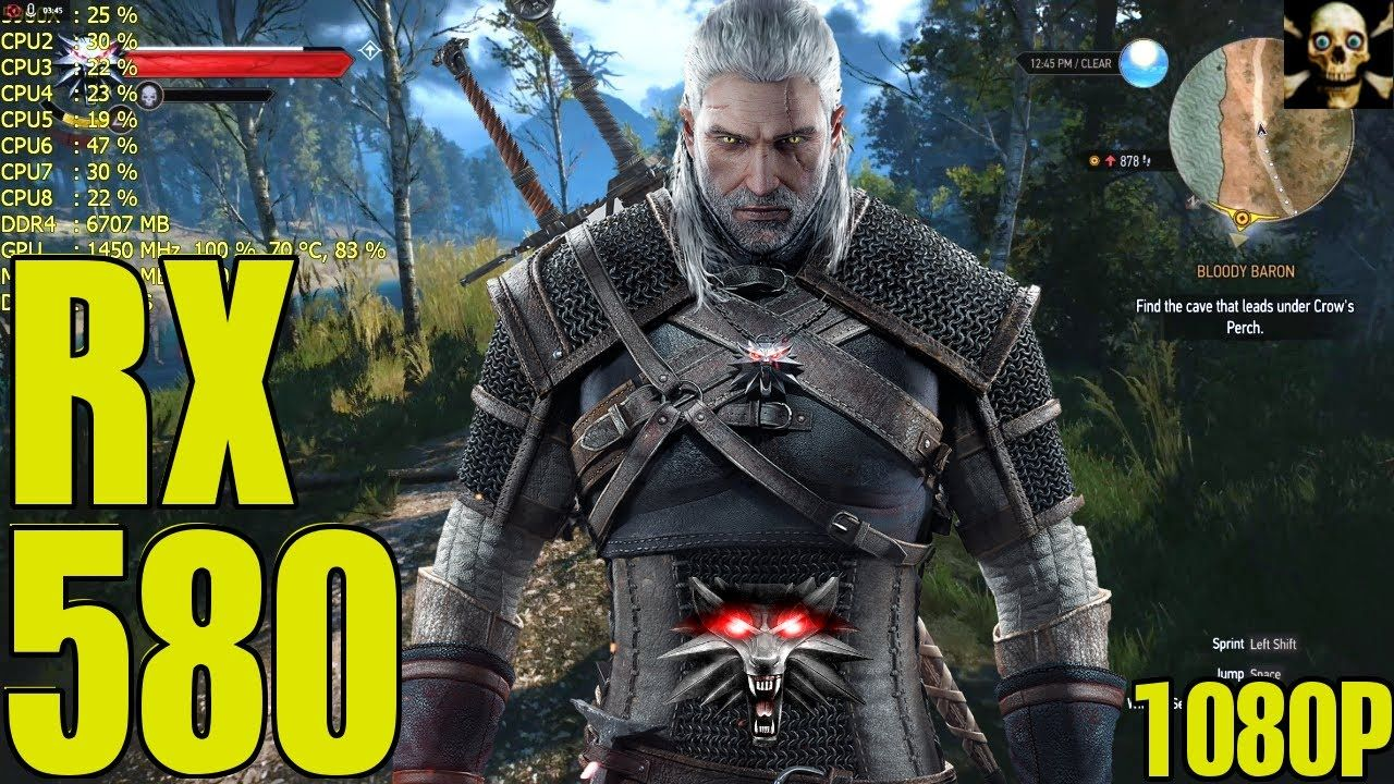 The Witcher 3 Grx 580 Fps Performance Hairworks On Off 1080p