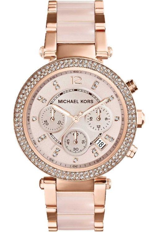 Michael Kors Parker Watch - ceramic and rose bracelet   rose dial MK5896  £164 df5a764245