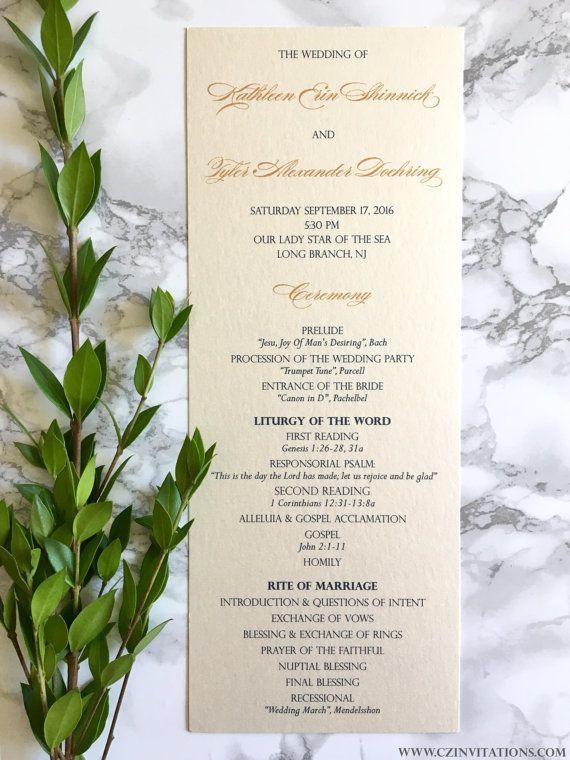 printed wedding program tea length wedding program two sided