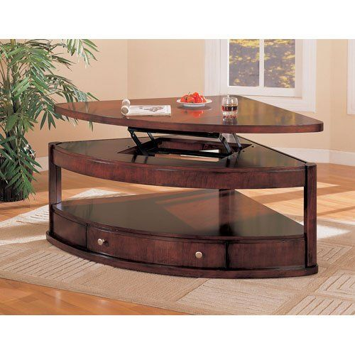Amazon Com Coaster Pie Shaped Lift Top Occasional Sectional Coffee Table Lift Up Coffee Table Sectional Coffee Table Coffee Table Contemporary Coffee Table