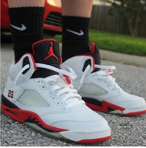 Pin by MJ on Jordan 5's on Feet | Jordans, Air jordans, Jordan v