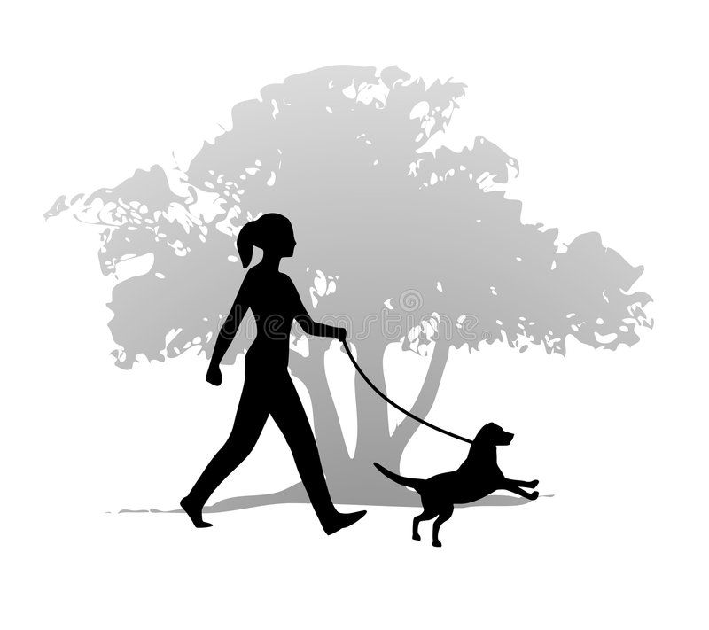 Woman Walking The Dog An Illustration Featuring A Young Woman Walking Her Dog I Affiliate Illustration Fe Dog Illustration Dog Walking Logo Dog Walking