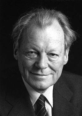 Willy Brandt, foto uit 1980