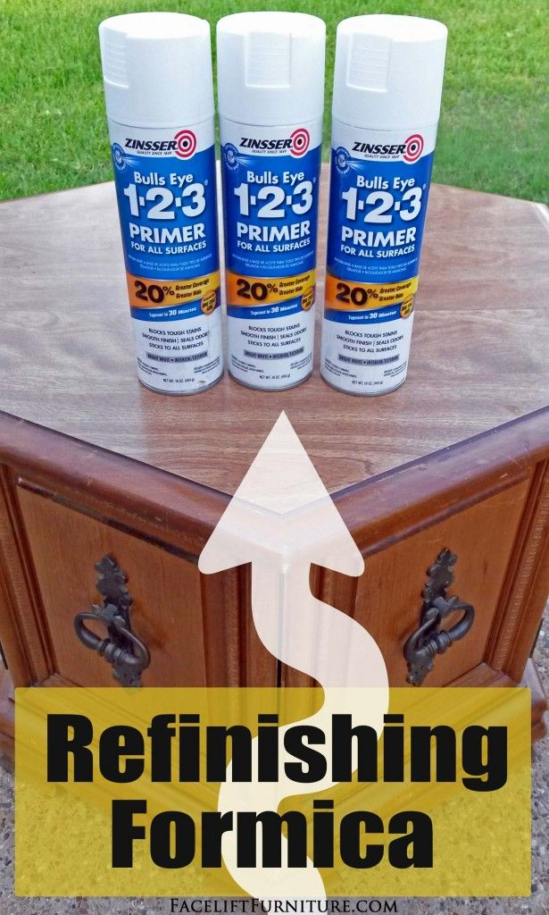 Marvelous How To Refinish Formica Laminate Furniture, From The Facelift Furniture DIY  Blog.