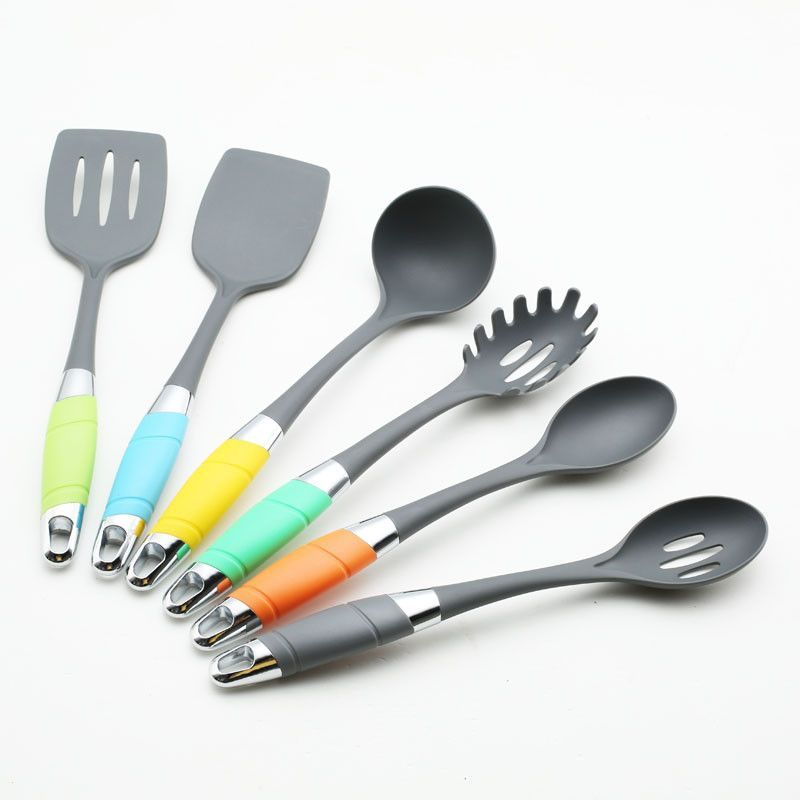 6 Piece Nylon Cooking Tool Set,including in slotted turner,solid - steckdosenleiste für küche