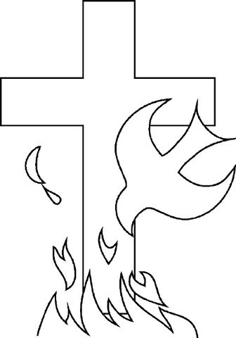Holy Spirit coloring page from Church category. Select