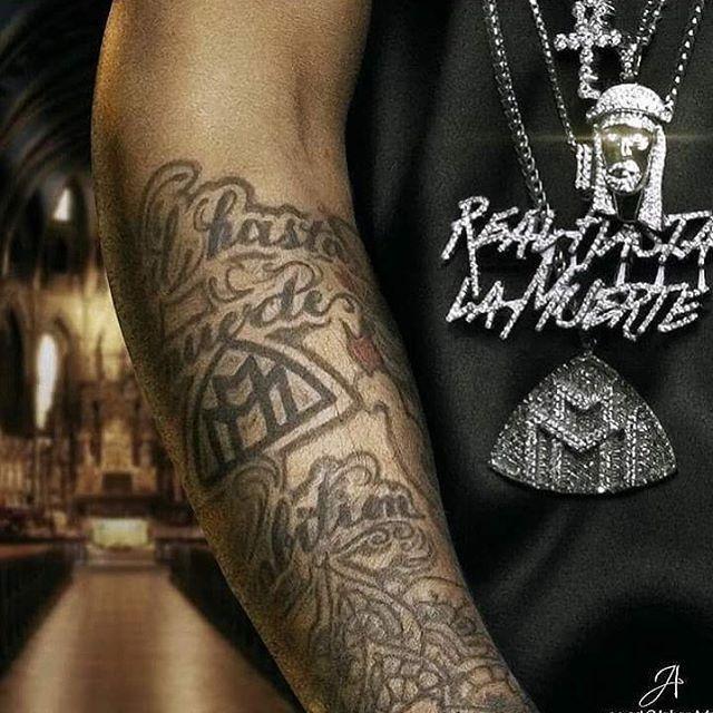 Anuel Aa Freeanuel Real Hasta La Muerte Tattoos Aa Tattoos Polynesian Tattoo