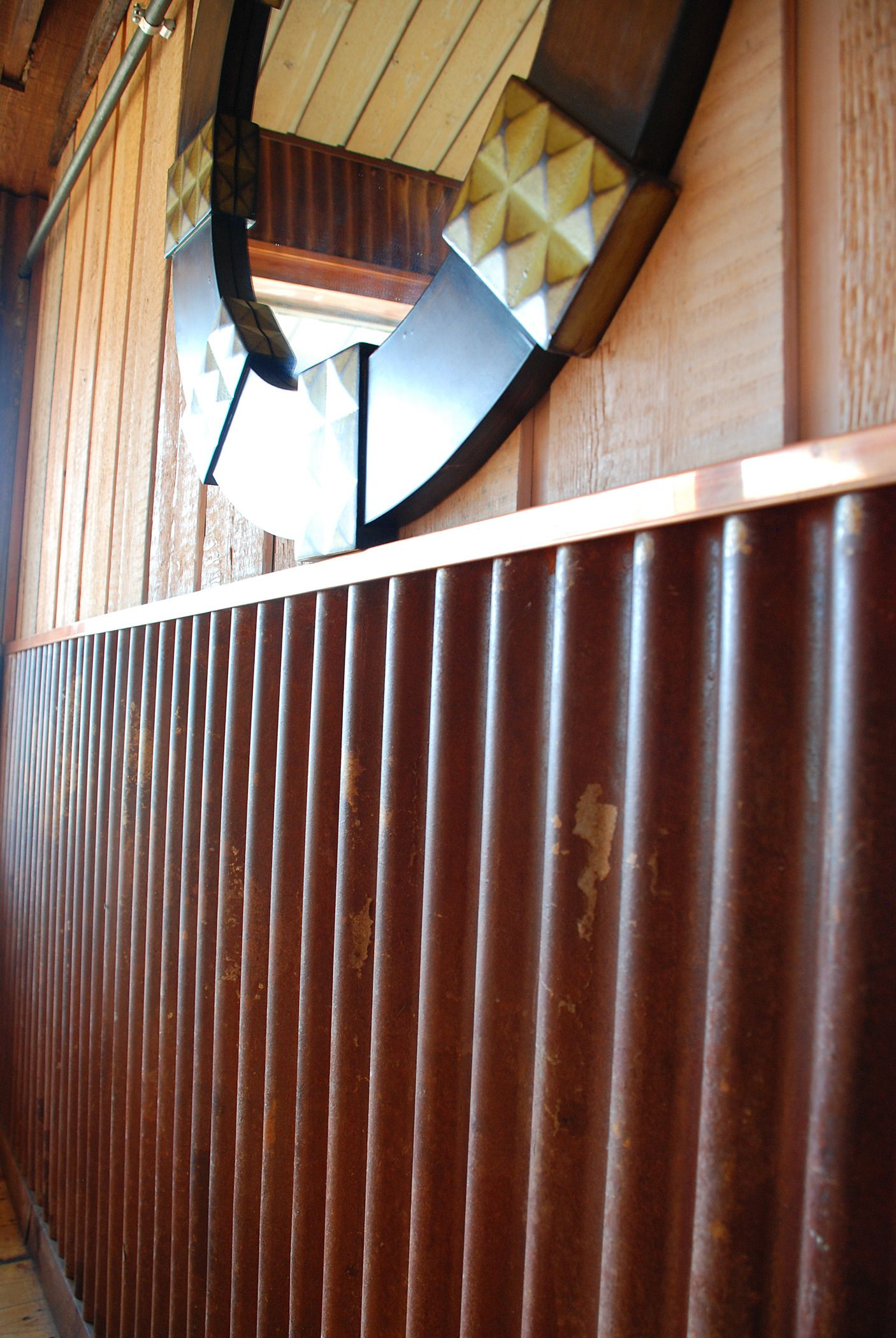 Truten Corrugated With Copper Trim In Restaurant Comes