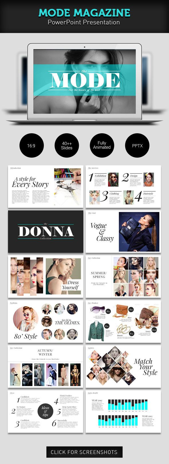 mode magazine powerpoint | ppt design, powerpoint presentation, Powerpoint templates