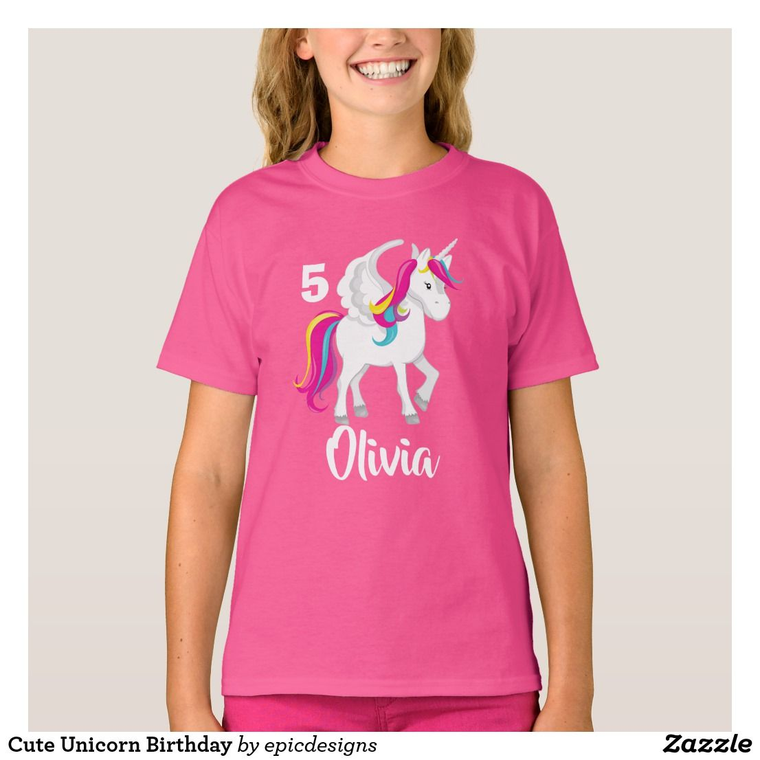 Custom vinyl unicorn birthday shirt Birthday shirts