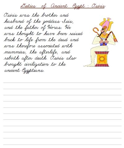 cursive writing paragraph worksheets