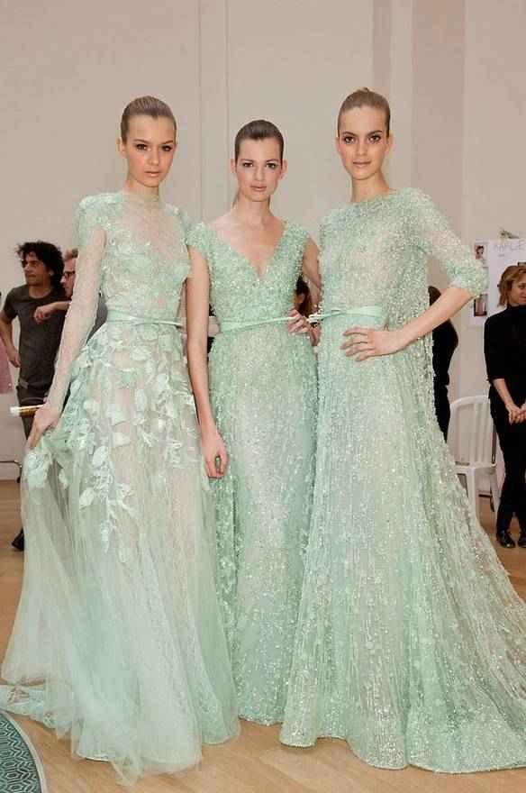 Seafoam green | Seafoam Green Obsession | Pinterest | Haute couture ...