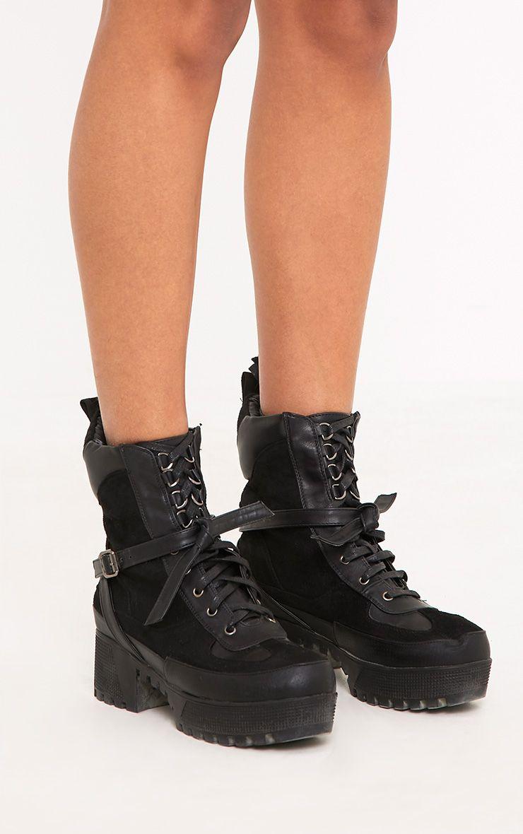 eac8185d070 Karmel Black Biker Boots