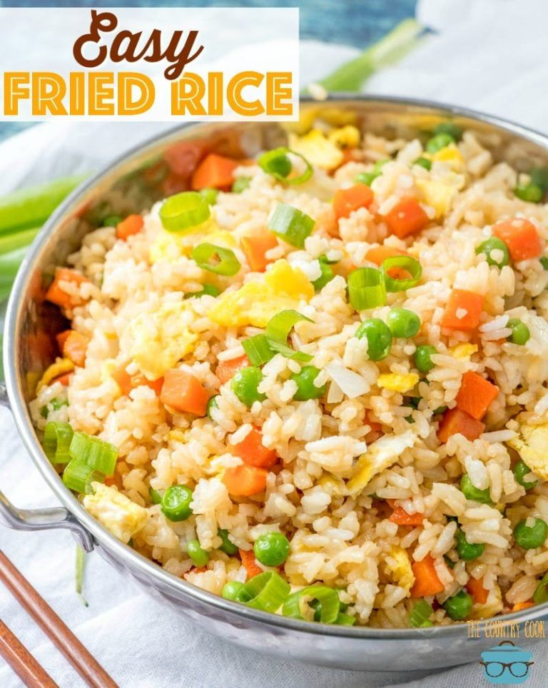 Easy Vegetable Fried Rice Recipe Fried Rice Fried Rice Easy Vegetable Fried Rice