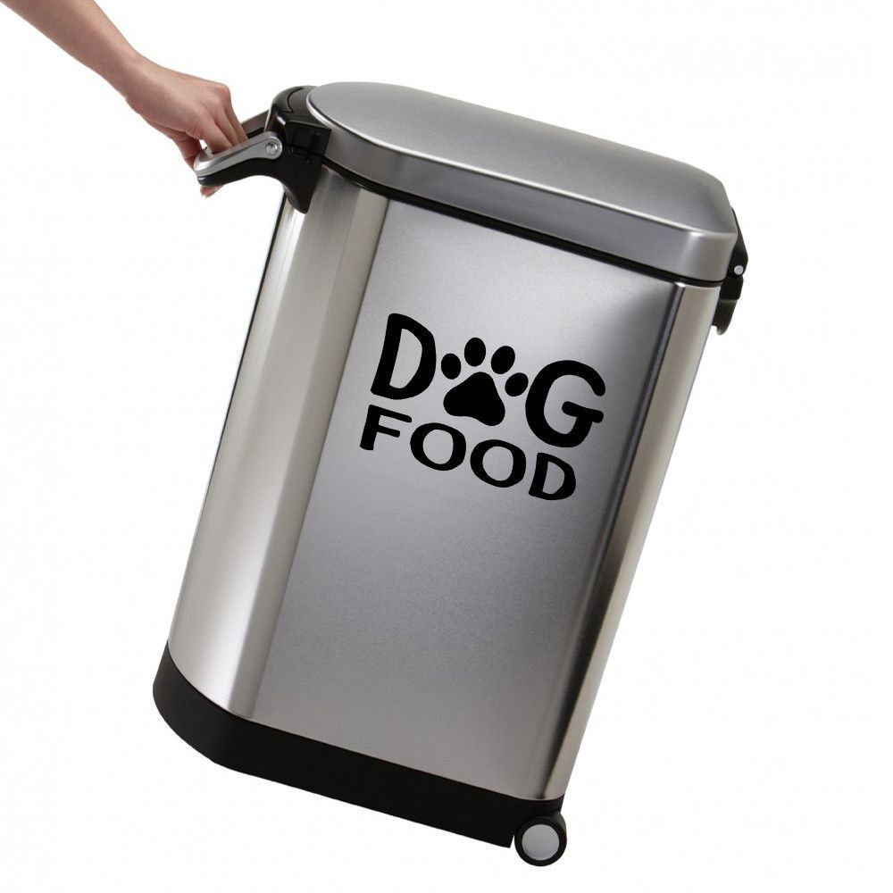 Dog food wall decal dog food storage containers dog