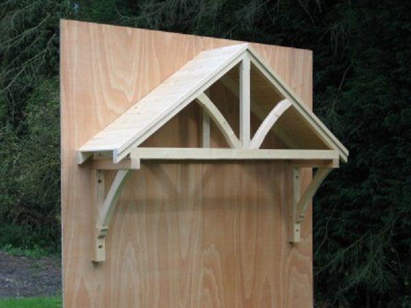 Wood door awning kit door designs plans door design for Front porch roof kits