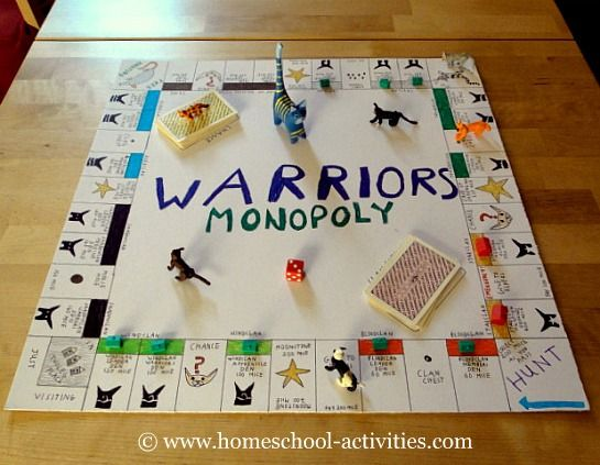 Make Your Own Board Game For Kids Warrior Cats Books