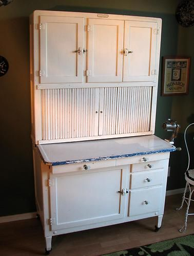 Antique Hoosier Cabinet Vintage 1920 S All Original With