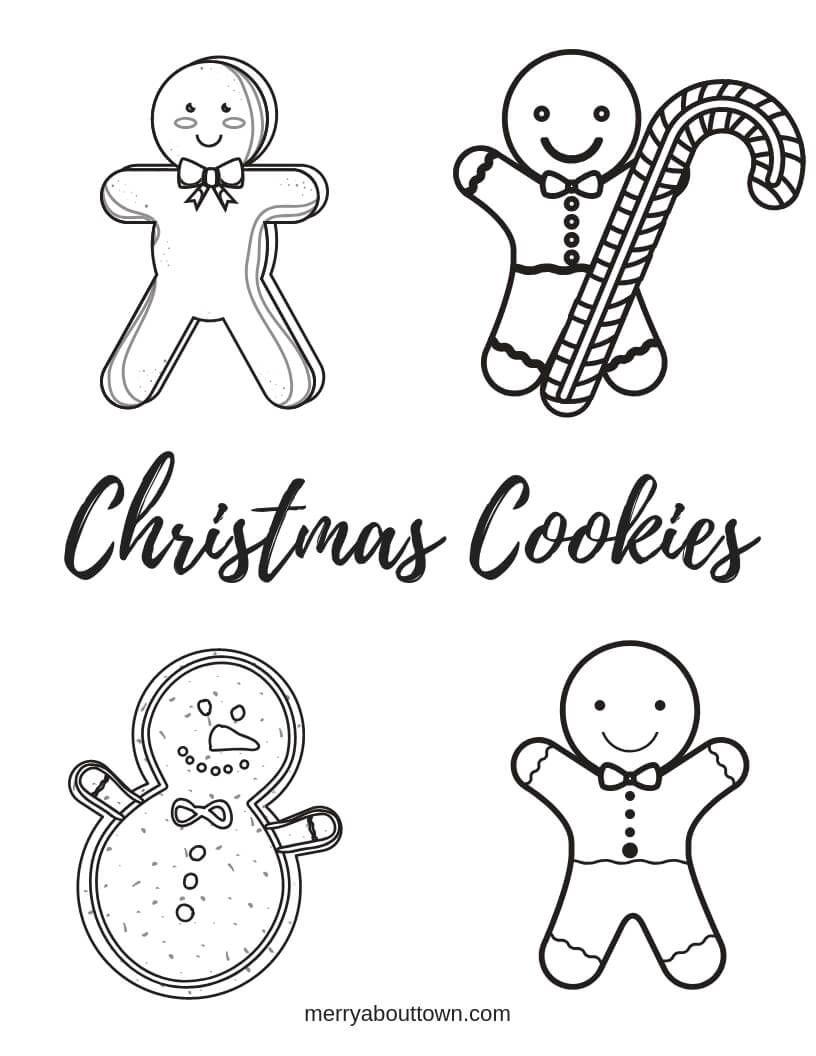 Christmas Printables Cookies Wordsearch & Coloring Sheet