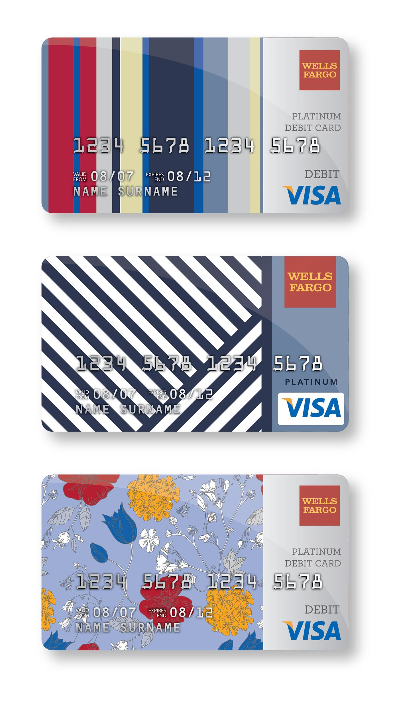 I Kept Getting My Cards Mixed Up And Now I Never Do I M Glad Wells Fargo Has The Option To Upload Your Own Ar Credit Card Design Debit Card Design Card