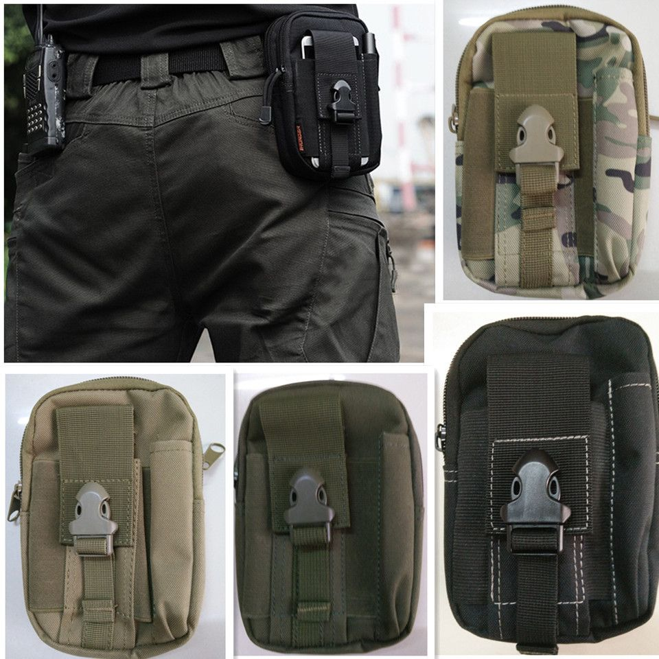 Military Outdoor Tactical Molle Waist Bag Pack Purse Mobile Phone Case 1000D