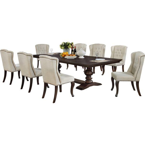 Rolf 9 Piece Extendable Dining Set Dining Room Sets Solid Wood