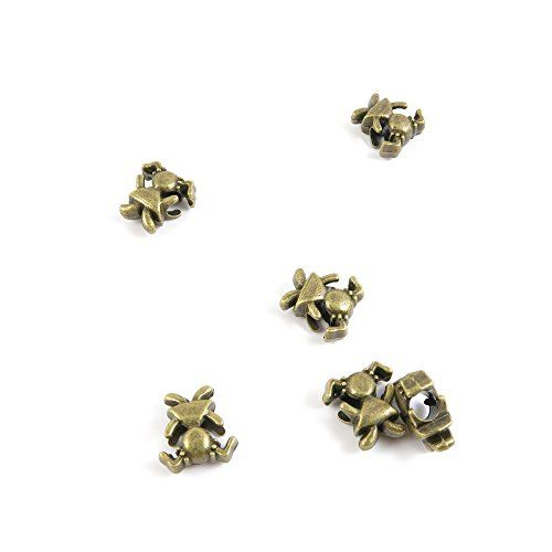220 Pieces Jewelry Making Findings Antique Bronze Charms Craft Lots Repair Supplies Supply N1zp3