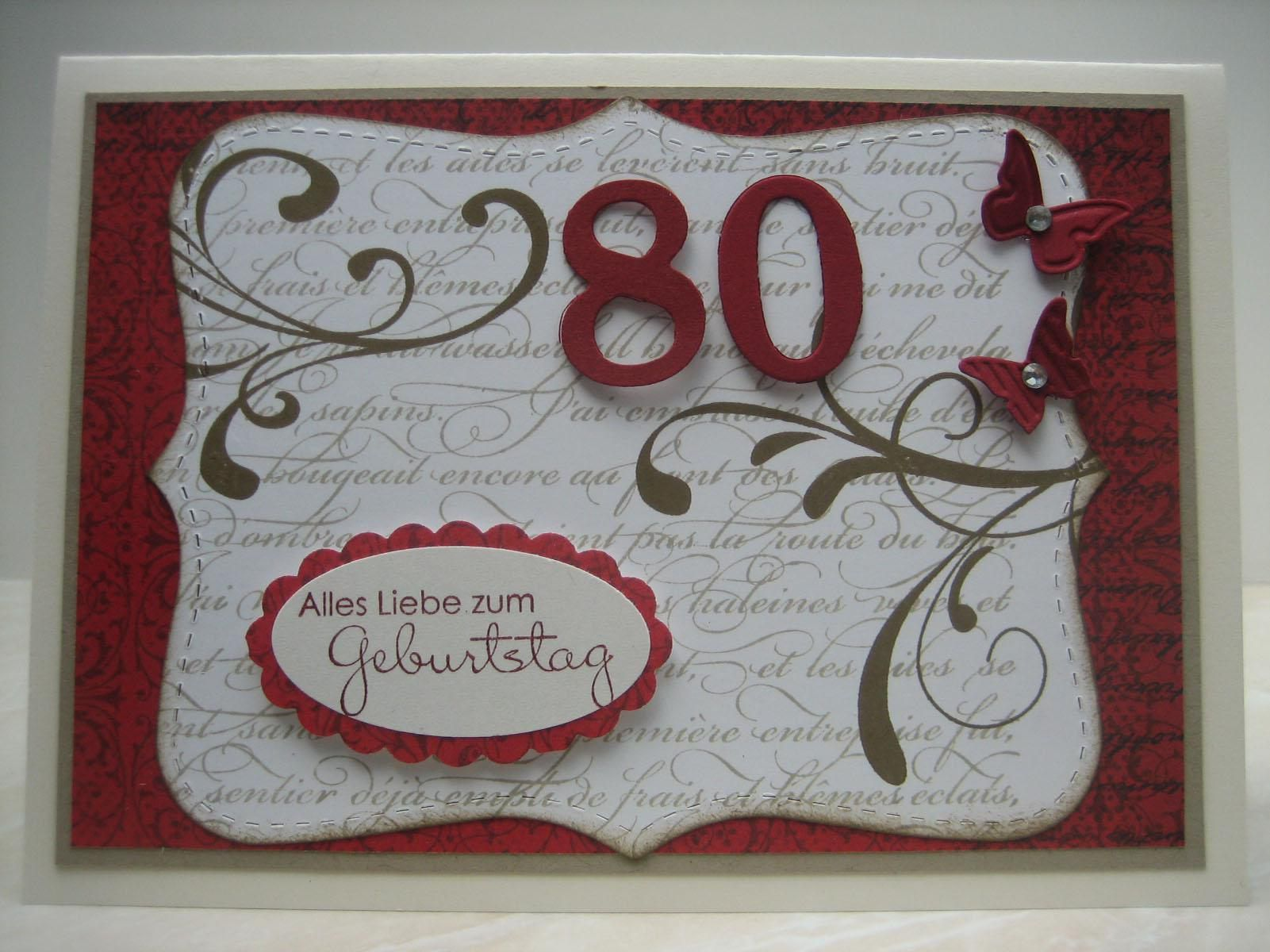 Einladung 80. Geburtstag Vorlage Kostenlos