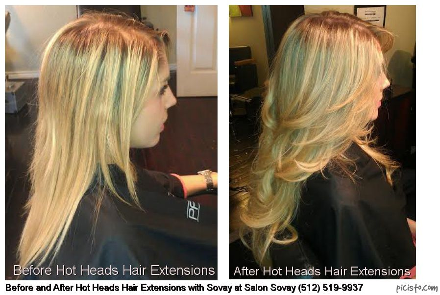 Before And After Hot Heads Hair Extensions With Stylist Sovay