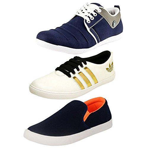 Jabra Men Blue-White Casual Pack Of Loafers & Sneaker Combo … sPjHbCH