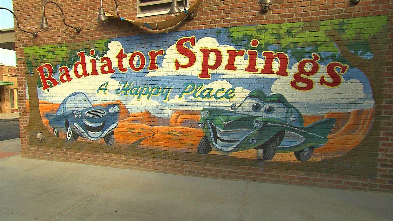 Radiator Springs Wall Mural Wallpaper