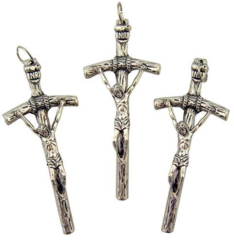 Silver tone papal cross crucifix pendant for prayer rosary lot of 3 silver tone papal cross crucifix pendant for prayer rosary lot of 3 1 34 inch mozeypictures Gallery