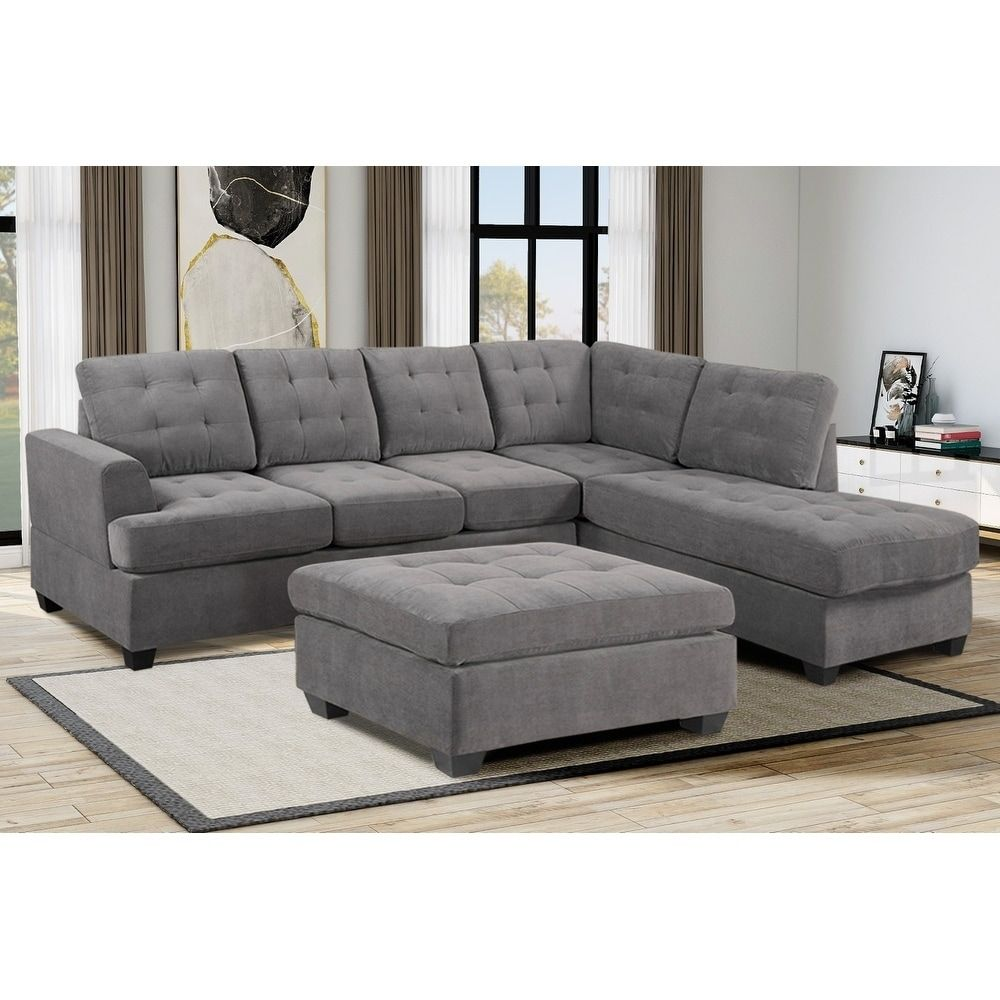 Online Shopping Bedding Furniture Electronics Jewelry Clothing More Sectional Sofa With Chaise Ottoman In Living Room Grey Sofa Set