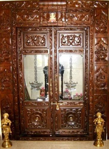 Modern Pooja Doors Google Search: 9 Traditional Pooja Room Door Designs In 2020