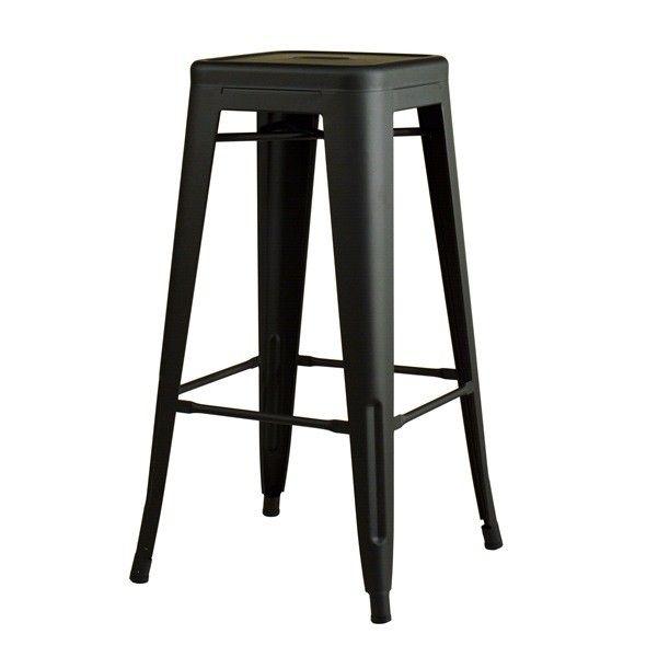 Barhocker Style barhocker schwarz matt metal bar stool black matte design