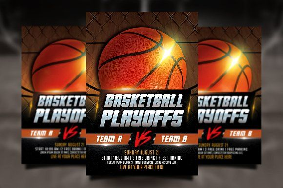 Basketball Playoffs Flyer Basketball Playoffs Flyer Template And