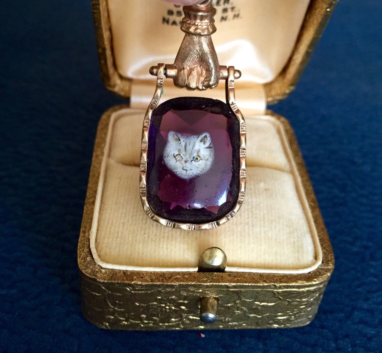 A personal favorite from my Etsy shop https://www.etsy.com/listing/258105659/victorian-gold-filled-amethyst-glass