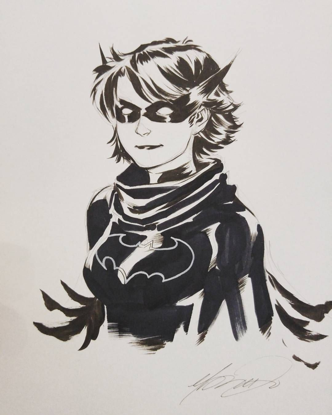 Black Bat Cass Cain by Marcus To
