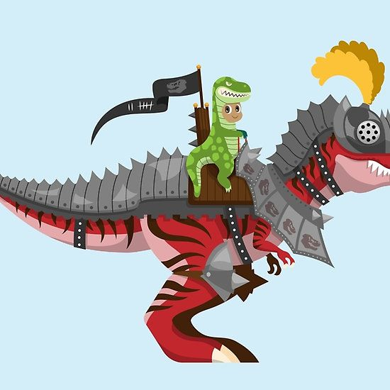 Dino Knight T Rex Ii Illustration Vector Tyrannosaurus Dinosaur Knight Armour