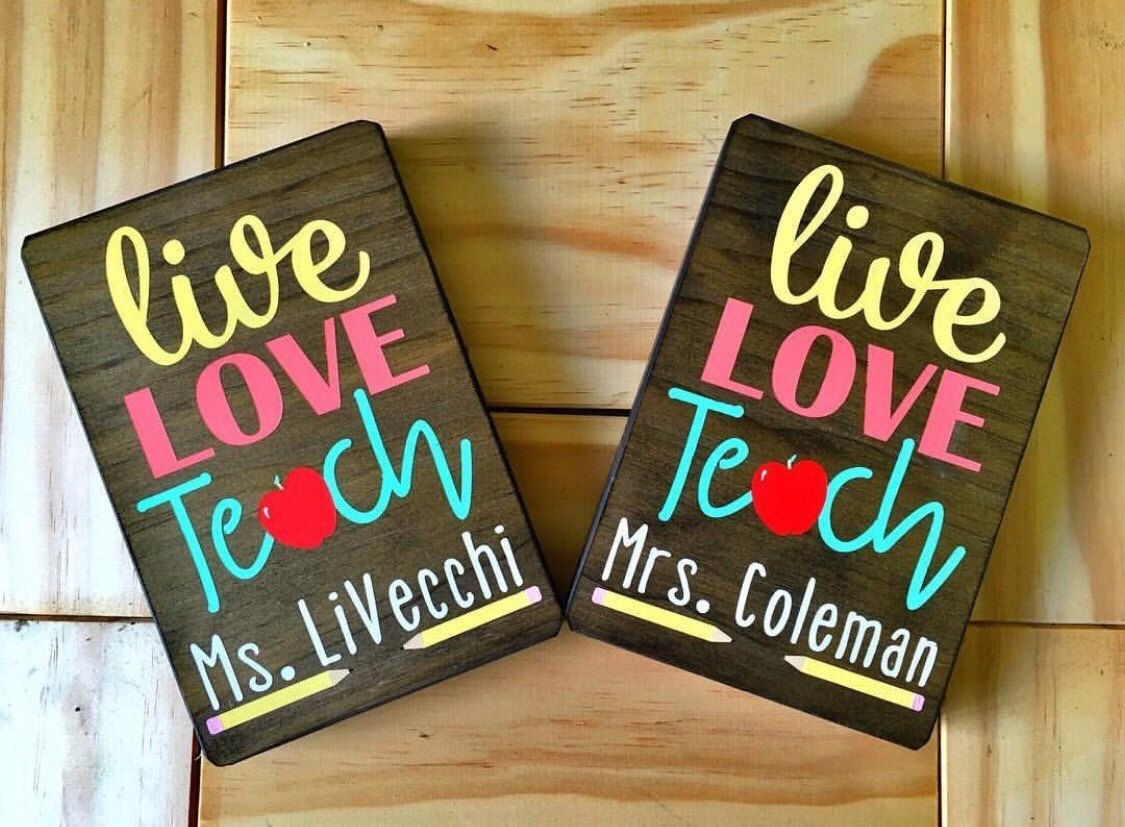 Personalized Painted Teacher Signs Diy Teacher Signs