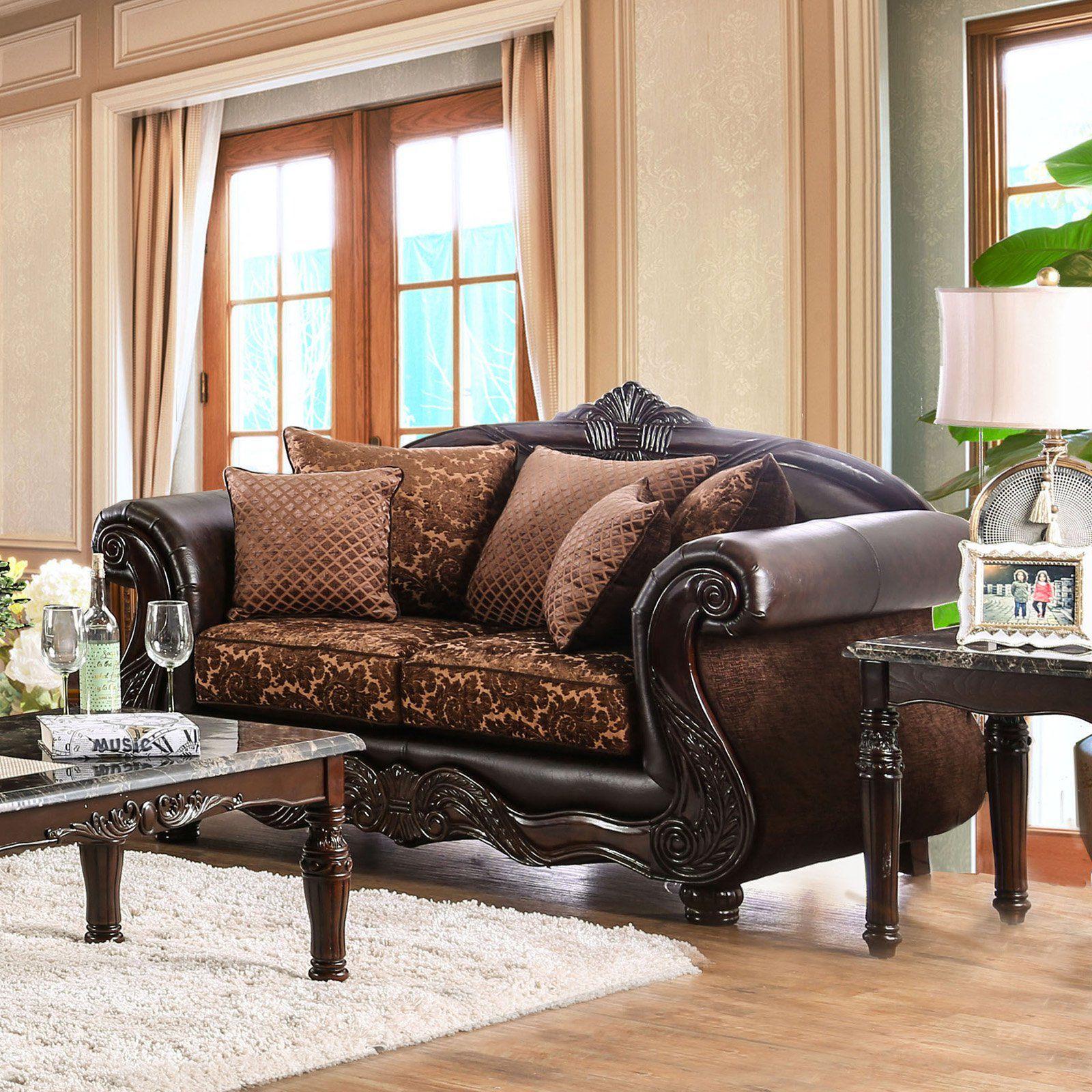 Furniture Of America Maldino Traditional Style Intricate Wood
