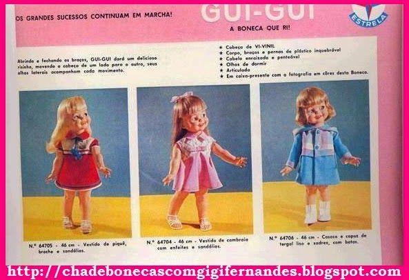 Chá de Bonecas com Gigi Fernandes: Boneca Gui Gui, Estrela, 1969