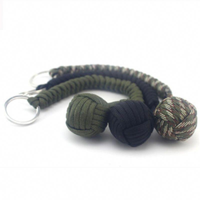 Monkey Fist Paracord Lanyard Steel Ball Self Defense (Free Shipping)   selfdefensebracelet 70534d4df