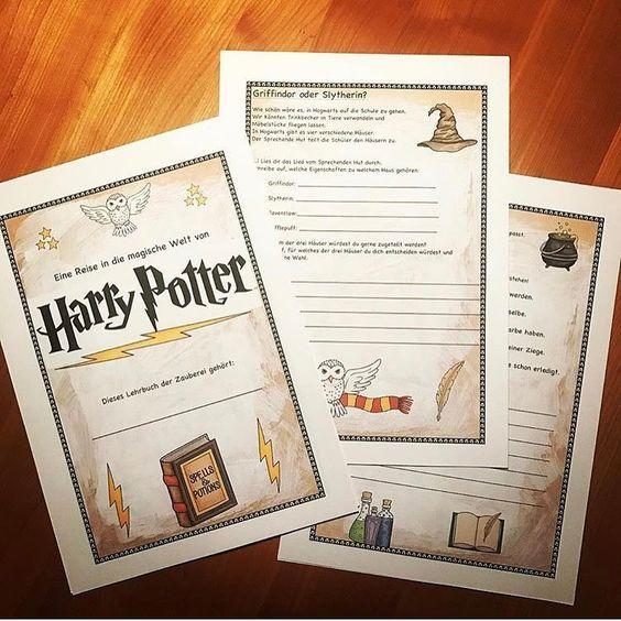 Fur Dieses Schuljahr Sind Wir Fertig Mit Der Harry Potter Werkstatt Zu Den Kernthemen Der Klasse 4 Gab Es Kunstunterricht Harry Potter Klassenzimmer Schule
