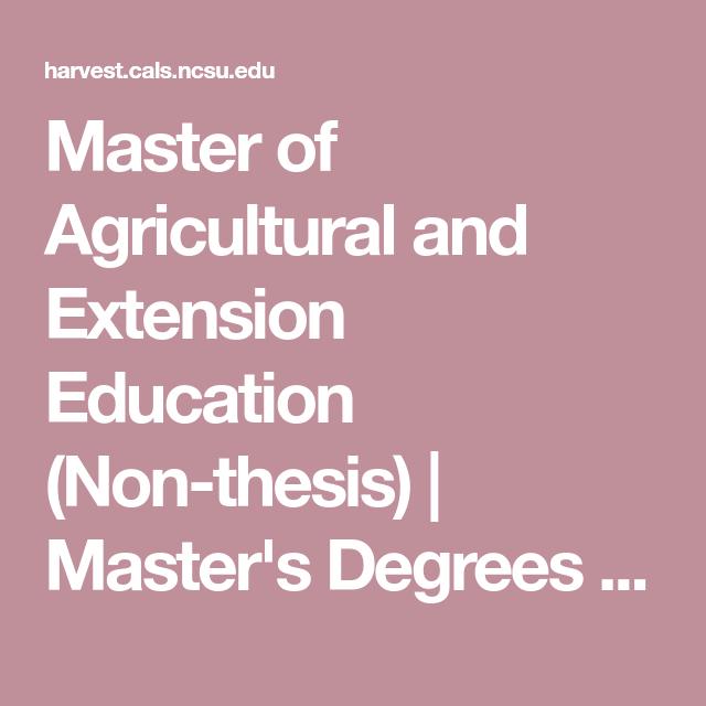 Non thesis master degree